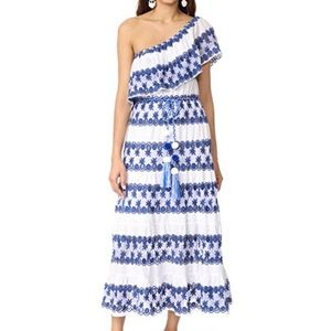 Miguelina Madeline One Shoulder Maxi Dress